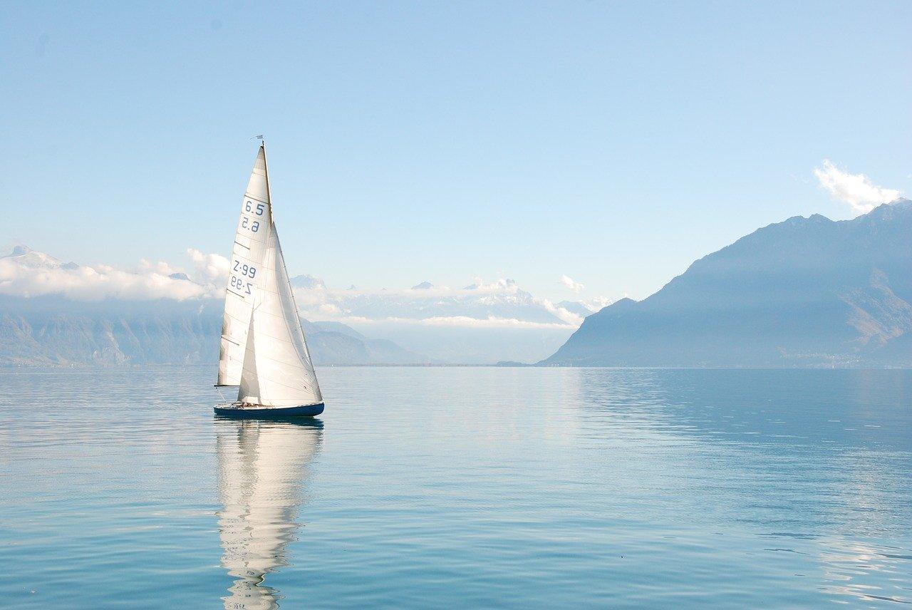 lake, boat, water