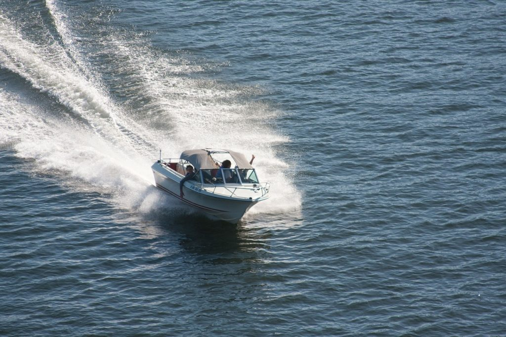 speedboat, boat, sea